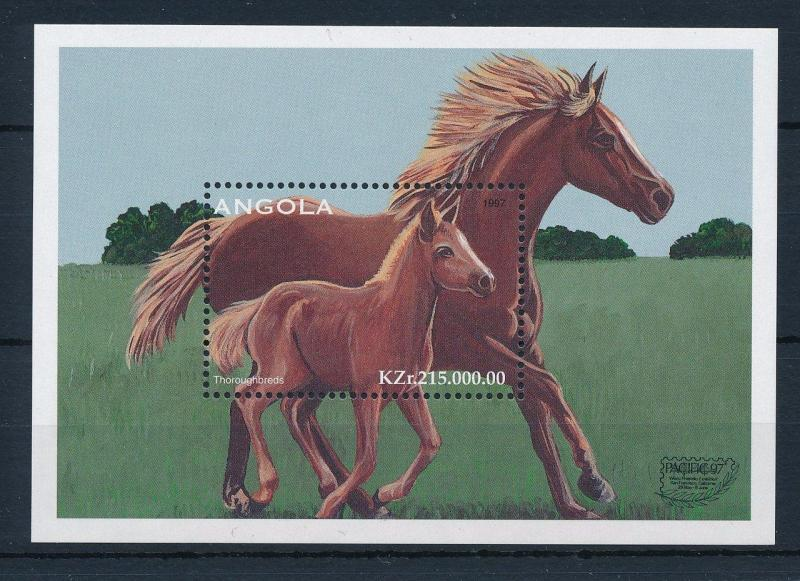 [30870] Angola 1997 Animals Horses MNH Sheet