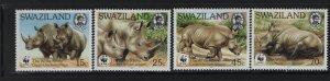 SWAZILAND 519-522 (4) Set, Hinged, 1987 World Wildlife Fund