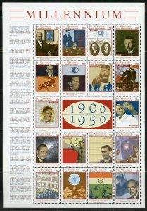 ST. VINCENT GRENADINES  MILLENNIUM 1900/1950  SHEET MINT NH