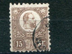 Hungary 1871 engraves used 15 k  VF   - Lakeshore Philatelics