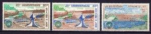 Laos. 1972. 334-36. Hydroelectric Dam. MNH.
