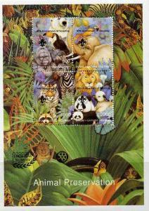 Batum 1997 Animal Preservation deluxe sheet containing se...