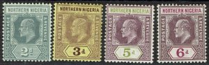 NORTHERN NIGERIA 1910 KEVII 2D 3D 5D AND 6D