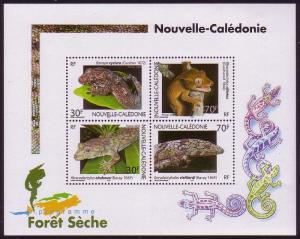 New Caledonia Geckos MS SG#MS1304