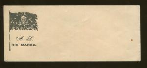 1860's United States Patriotic Civil War Era JD His Marque Postal Cover Unsealed