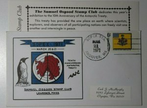 SOPEX Polar Penguin Andover MA 1971 Sc#1353 Philatelic Expo Cachet Cover