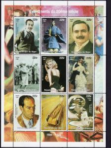 Niger 1998 Events 1920/1929 Disney/Monroe/Caruso/Renoir Sheetlet (9) YT#1274/82