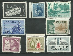 Canada  375-382   Mint NH VF Complete year set  PD 1958