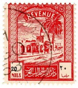 (I.B) BOIC (Tripolitania) Revenue : Duty Stamp 20m (1952)