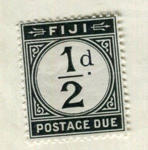 FIJI; Early 1918 GV Postage Due Mint hinged 1/2d. value
