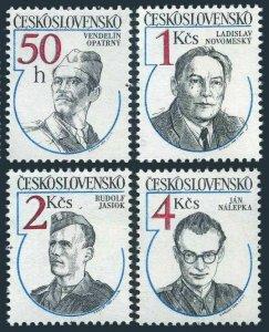 Czechoslovakia 2508-2511,MNH.Michel 2763-2766. WW II Resistance Heroes,1984.