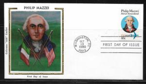 United States, C98 Philip Mazzei Colorano First Day Covers, FDC (z1)