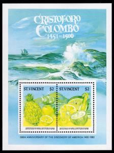 St.Vincent 1986 Sc#938A/B 500th.Anniversary of the Discovery America Color Proof