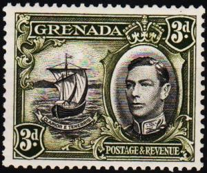 Grenada. 1938 3d S.G.158ab Mounted Mint