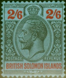 Solomon Islands 1927 2s6d Black & Red-Blue SG50 Very Fine MNH