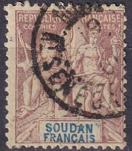 French Sudan #5  F-VF Used CV $6.50 (A19320)