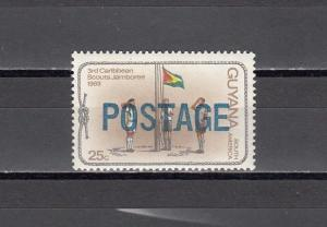 Guyana, Scott cat. 453. Scout value o/printed POSTAGE. ^