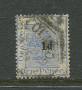 STAMP STATION PERTH Orange River Colony #31 Overprint Used CV$3.00