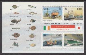 Ireland 847a Ships Souvenir Sheet MNH VF