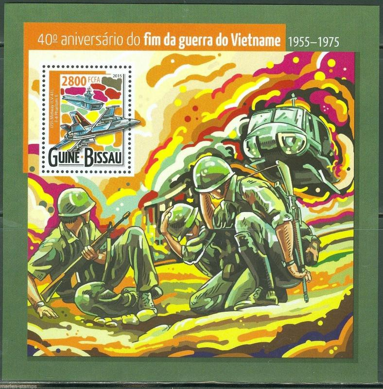 GUINEA BISSAU 2015 40th ANNIVERSARY OF THE END OF THE VIETNAM WAR S