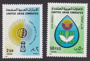 United Arab Emirates # 237-238, Energy Conservation, NH, 1/2 Cat.