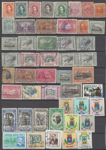 COLLECTION LOT OF # 1626 COSTA RICA 48 STAMPS 1889+ CLEARANCE
