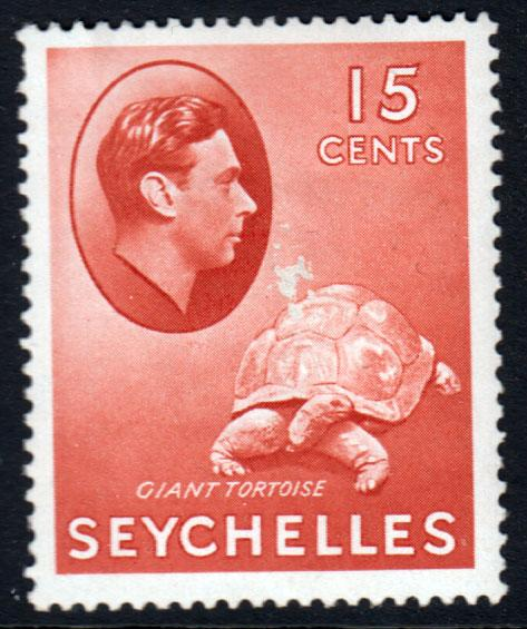 Seychelles KGVI 1938 15c Brown-Red SG139ab Mint Hinged