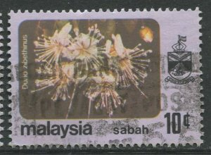 STAMP STATION PERTH Sabah #35 Flower Type and state Crest Used 1979