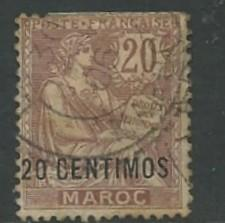 French Morocco # 17  20 CENTIMOS o/pt  (1)   Used