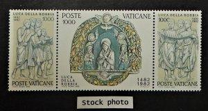 Vatican City 707-09. 1982 Luca Della Robbia, se-tenant strip, NH