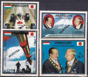 Paraguay #1455-8 MNH  'Specimen' Ovpt CV $5.00  (V4825)