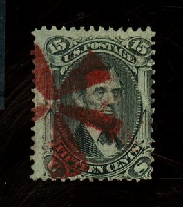 98 Used Fine Red Cancel Cat$375