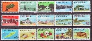 J22388 Jlstamps 1967-8 anguilla set mh #17-31 designs
