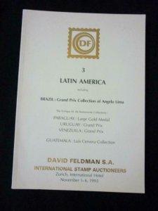 FELDMAN AUCTION CATALOGUE 1993 LATIN AMERICA BRAZIL GRAND PRIX ANGELO LIMA