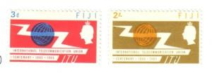 Fiji Sc 211-2 1965 ITU stamp set mint
