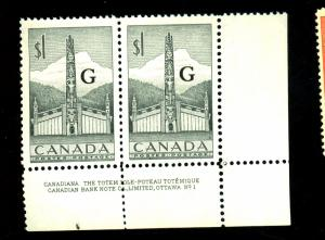 Canada #O32 MINT Pair F-VF OG NH Cat $28