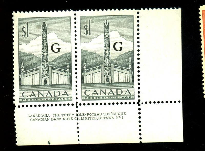 Canada #O32 MINT Pair F-VF OG NH Cat $28