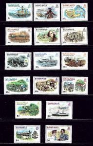 Bahamas 464-79 MNH 1980 Definitive Set