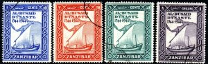 1944 Zanzibar Sg 327/330 Bicentenary of Al Busaid Dynasty Fine Used