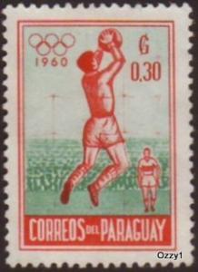 Paraguay 1960 Sc #556 SG #863 30c Olympic Soccer VFU