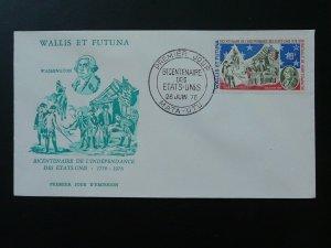 independance war George Washington masonic freemason FDC Wallis & Futuna 80453