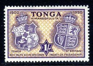 TONGA --  1951 -- SG 100  -   1/-   value     MM     cv £4.50