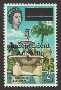 ANGUILLA : 1967 'Independent Anguilla' QEII Pall Mall 2c. MNH **.