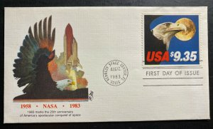 1983 Kennedy Space Center FL USA First day Cover FDC Express Mail Sc#1909 B