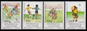 1993 Ivory Coast Cote d'Ivoire 1101-1104 1994 FIFA World Cup in USA 10,00 €