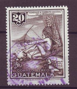 J25497 JLstamps 1954 guatemala used #c203 indian
