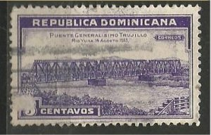 DOMINICAN REPUBLIC, 1934, used 3c,Bridge Scott 294