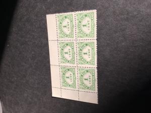 NFld. 2016 Scott #J1a Mint -F+-VF-NH 1939 Post Due Perf. 10-10.5 UL Crnr. Blk 6