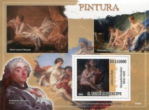 Sao Tome & Principe 2009 FRANCOIS BOUCHER Nude Painting s/s Perforated Mint (NH)