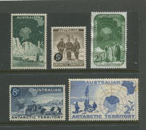 Antarctic Terr. #L1-L5  MVLH  1957  Set of 5 Stamps
